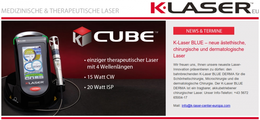 Screenshot der K-Laser-Homepage